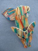 Kandinsky Style Brooch - Lea Stein of Paris Fox Pin  with Abstract Effect (SOLD) (1)